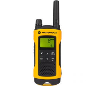 Motorola t80 image showing front of walkie talkie and clear screen